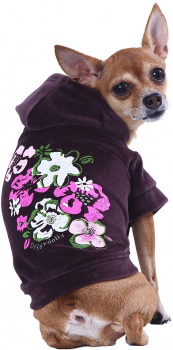 картинка Flower dark purple hoodie